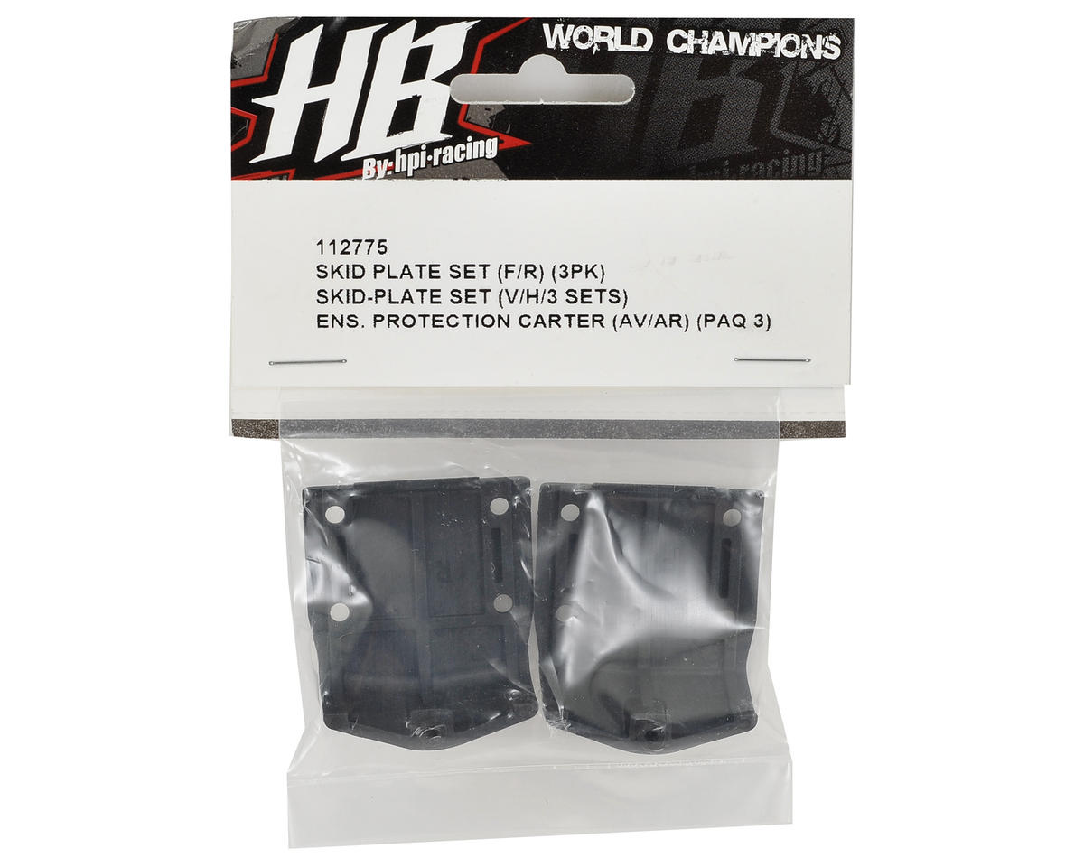 HB Racing Skid Plate Set Front/Rear