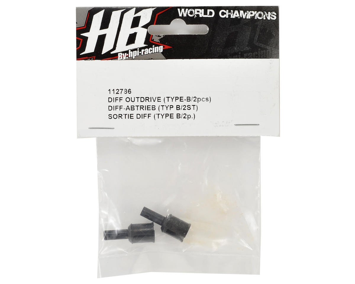 HB Racing Differential Outdrive (2) (Type B)