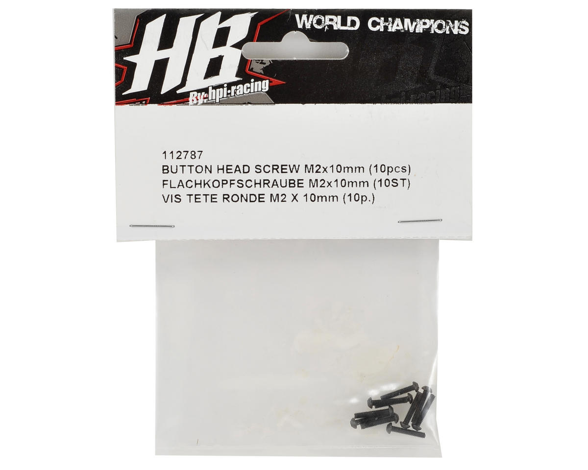2x10mm Button Head Cap Screw (10) by HB Racing