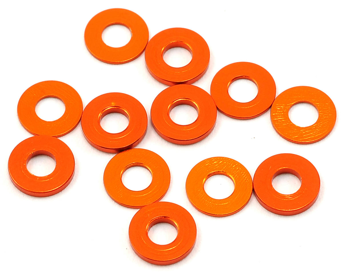 HB Racing D817 V2 3x7mm Washer Set (Orange) (6)