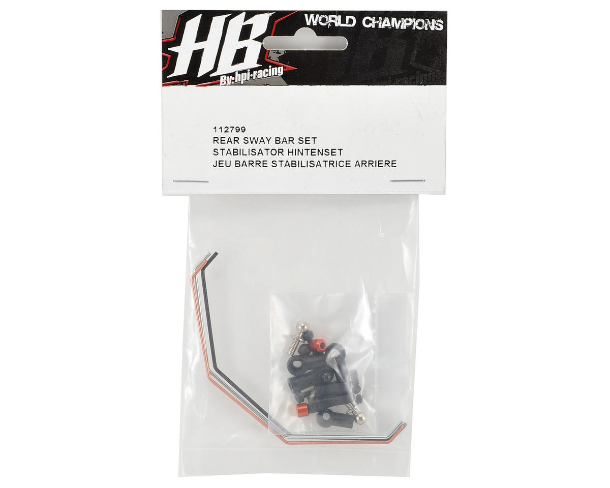 HB Racing Rear Sway Bar Set