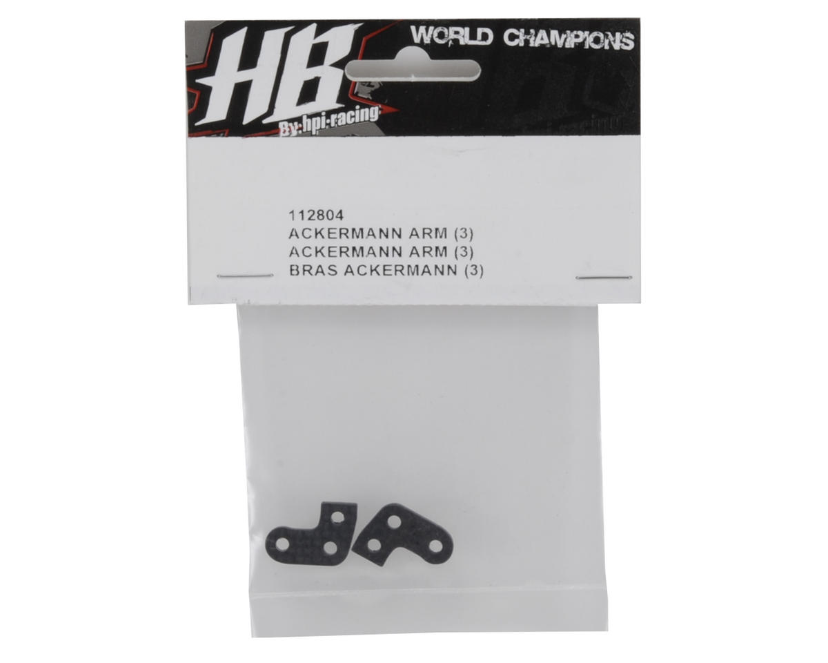 HB Racing Ackermann Arm Set (3-Aggressive)
