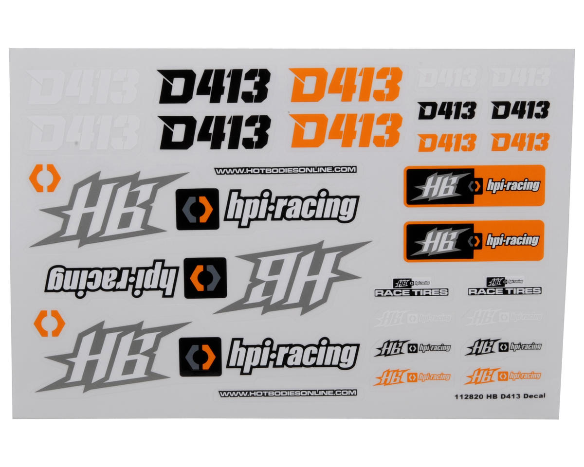 HB Racing Decal Sheet