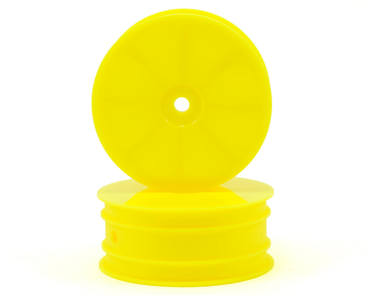 HB Racing 1/10 4WD Buggy Front Wheel (2) (Yellow)