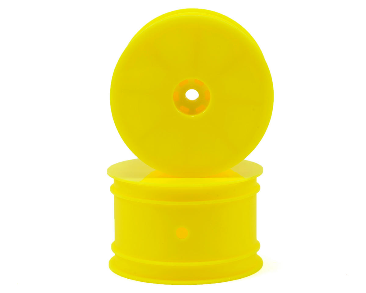 HB Racing 12mm Hex 1/10 Buggy Rear Wheels (2) (Yellow) (D216/D413)
