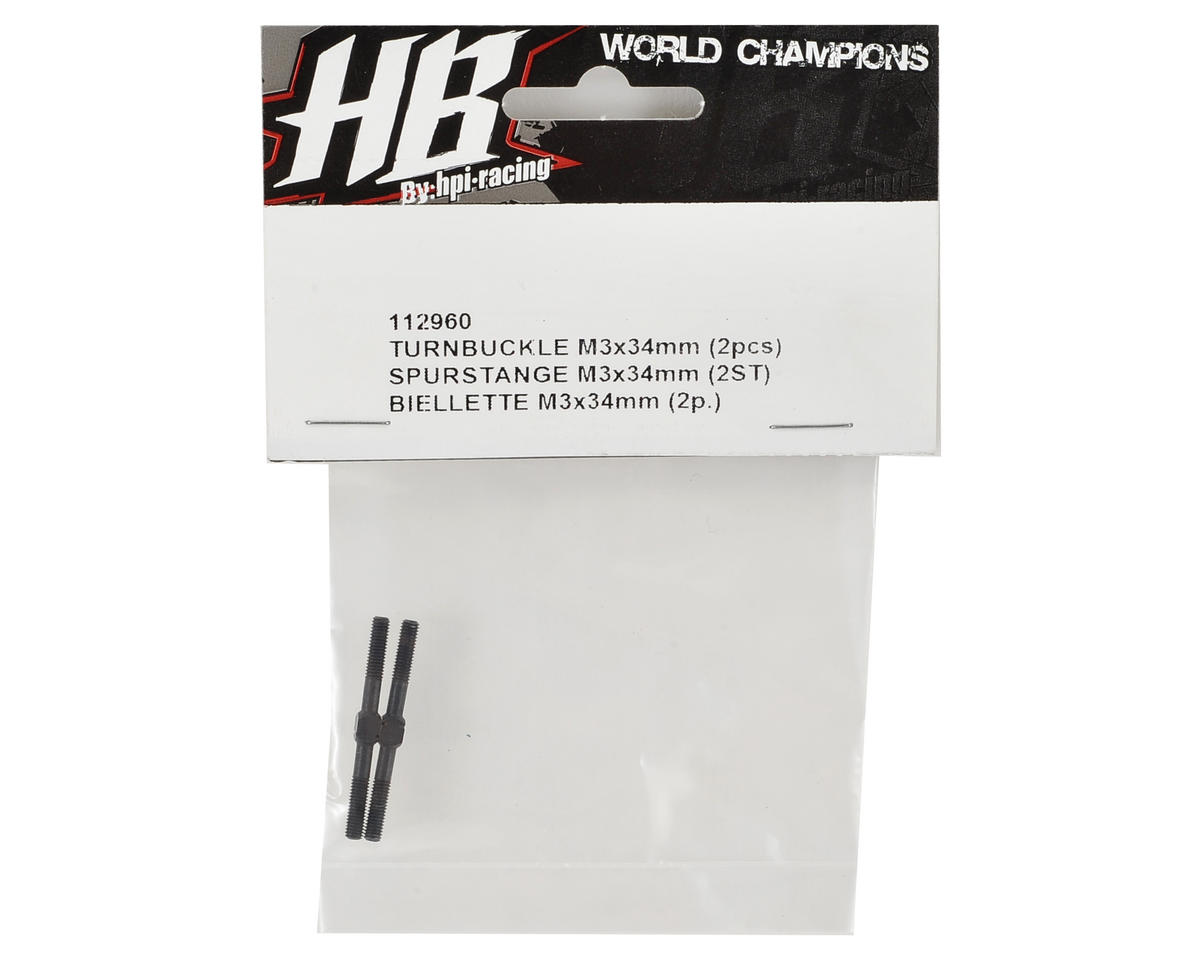 HB Racing 3x34mm Turnbuckle (2)