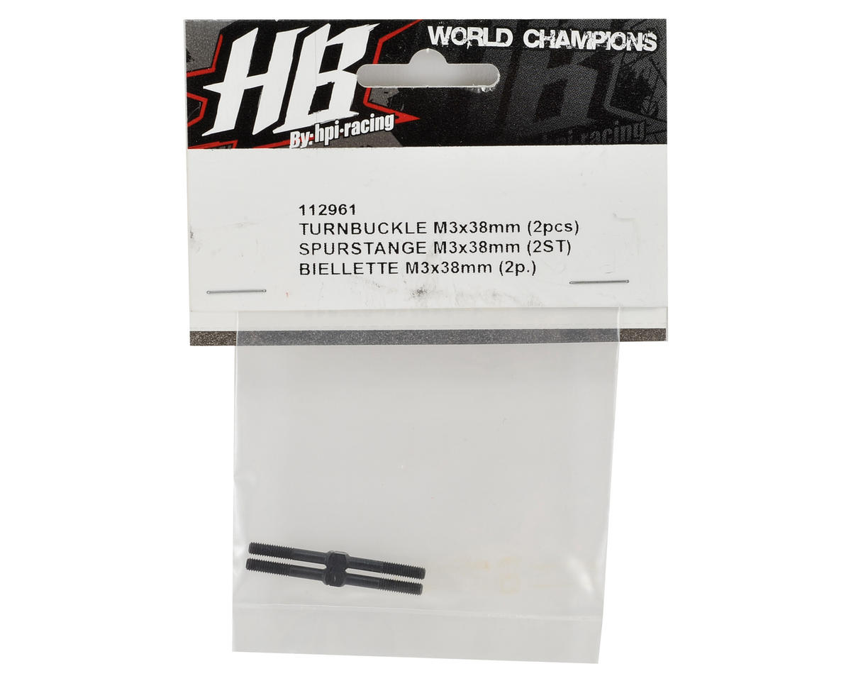 HB Racing 3x38mm Turnbuckle (2)