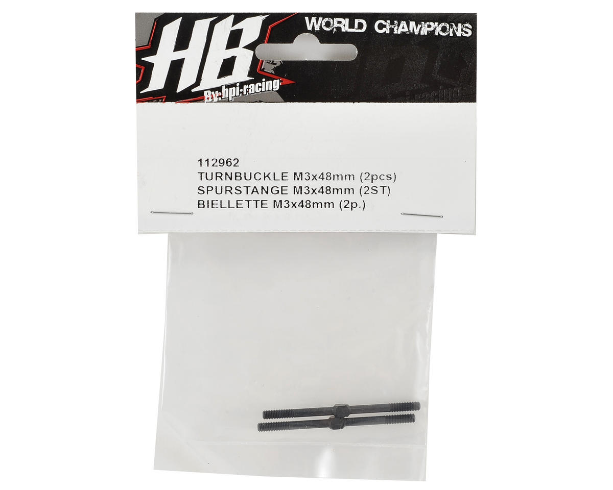 HB Racing 3x48mm Turnbuckle (2)