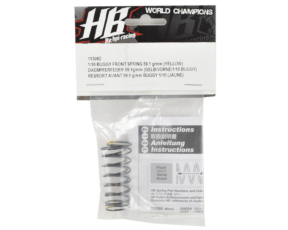 HB Racing Front Shock Spring (Yellow - 59.1g/mm)