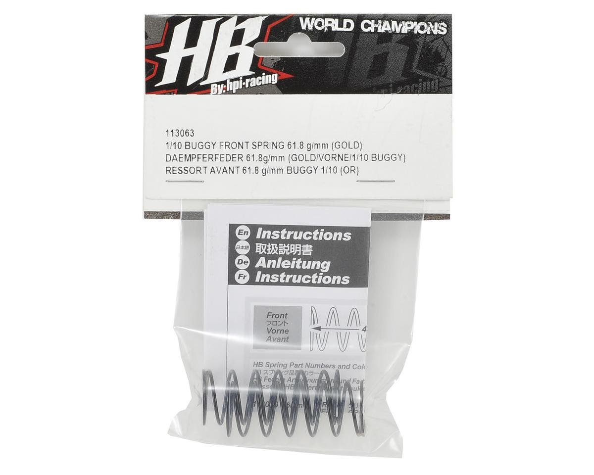 HB Racing Front Shock Spring Set (Gold - 61.8g/mm)