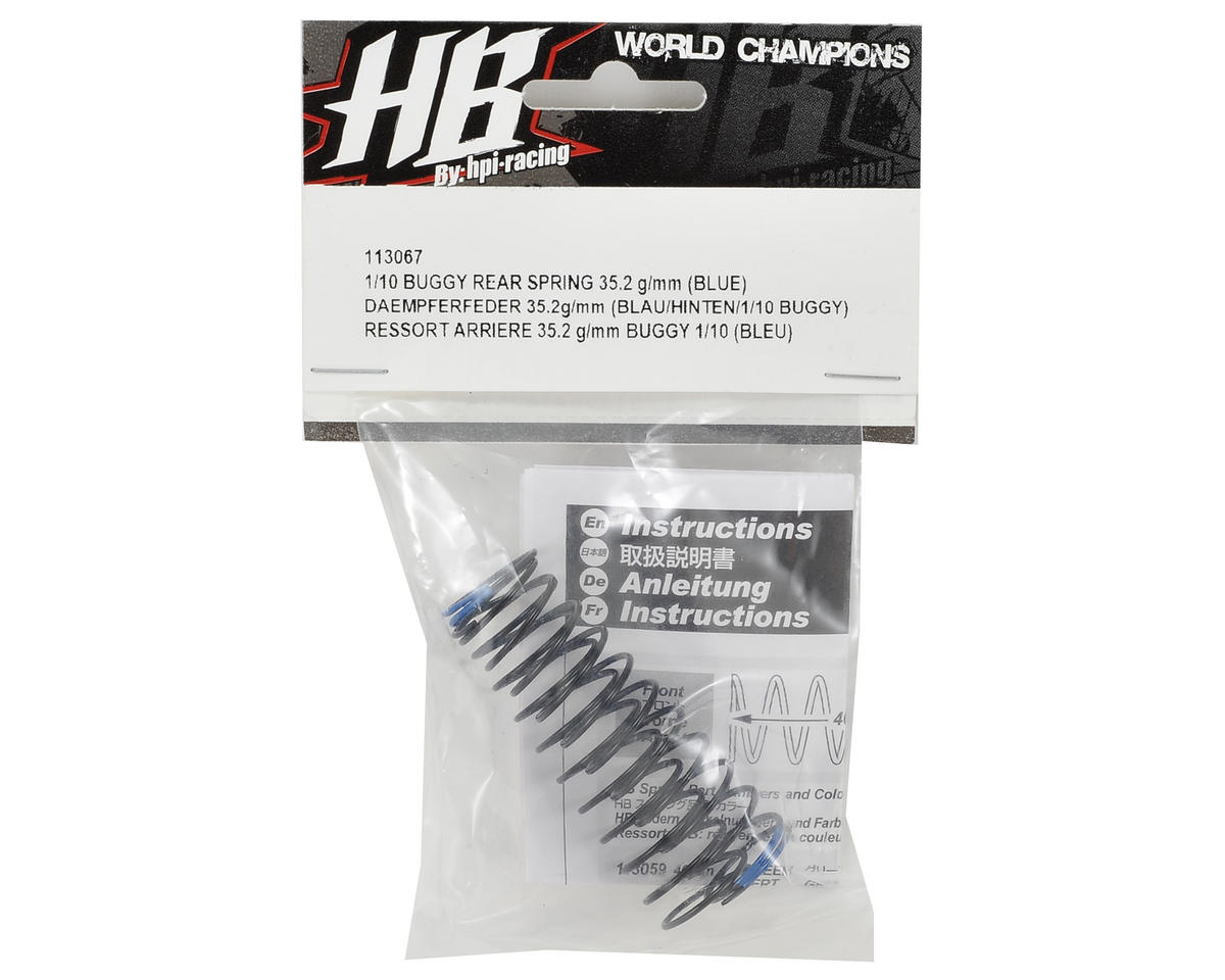 HB Racing Rear Shock Spring (Blue - 35.2g/mm)