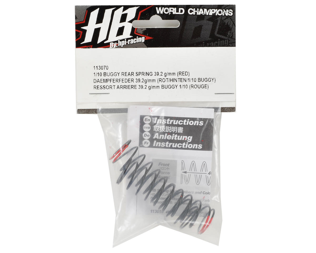 HB Racing Rear Shock Spring (Red - 39.2g/mm)