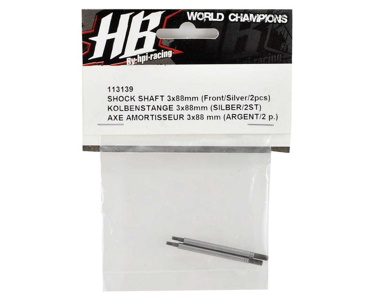 Front Shock Shaft (Silver) (2) by HB Racing