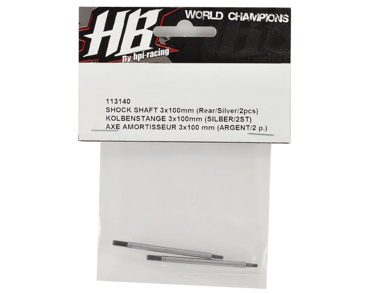 HB Racing Rear Shock Shaft (Silver) (2)