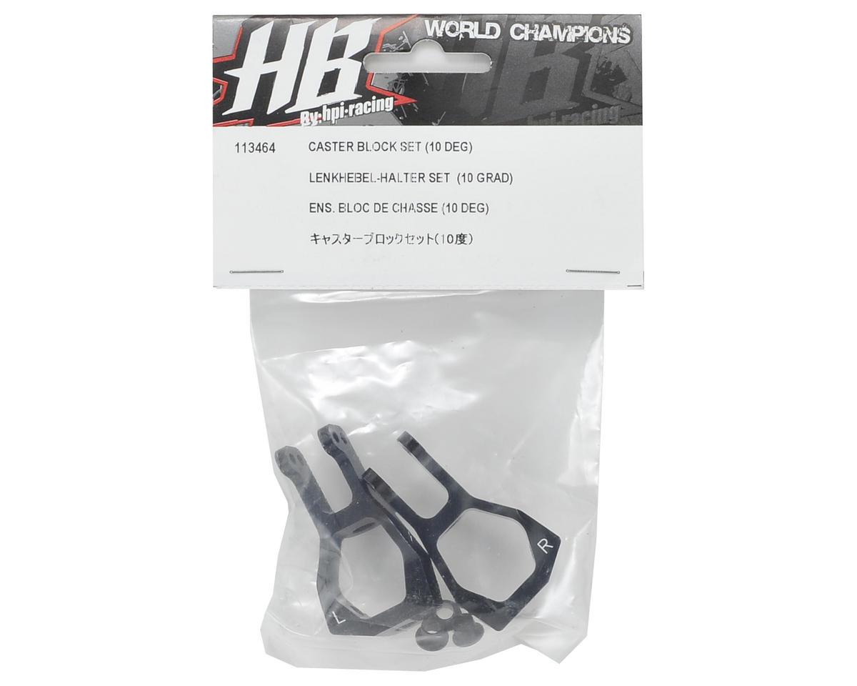 HB Racing 10° Aluminum Caster Block Set
