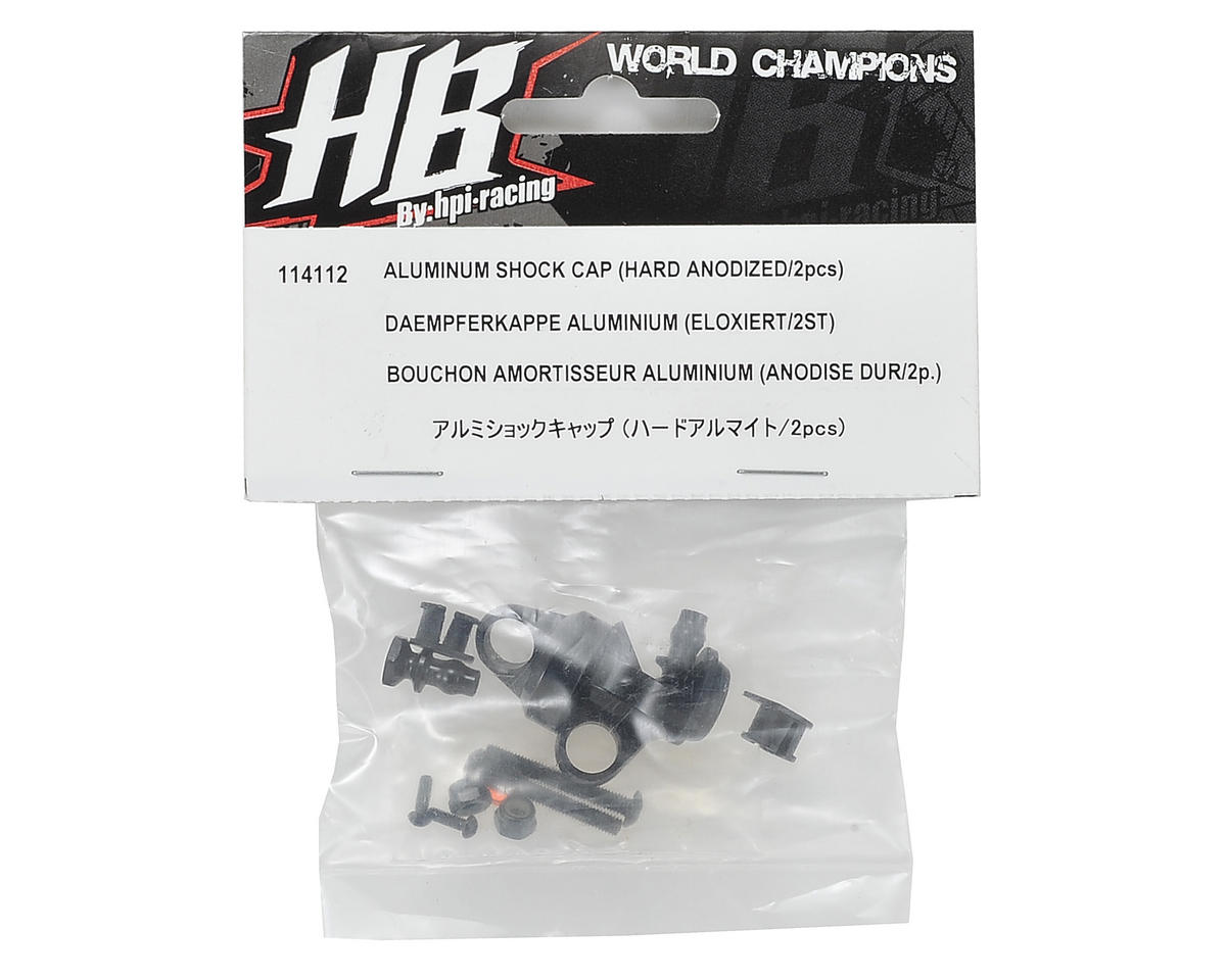 Aluminum Hard Anodized Shock Cap (2) by HB Racing
