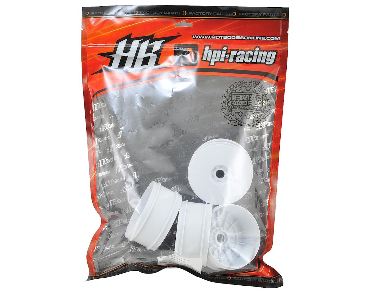 HB Racing 1/8 V2 Buggy Dish Wheels (White) (4)