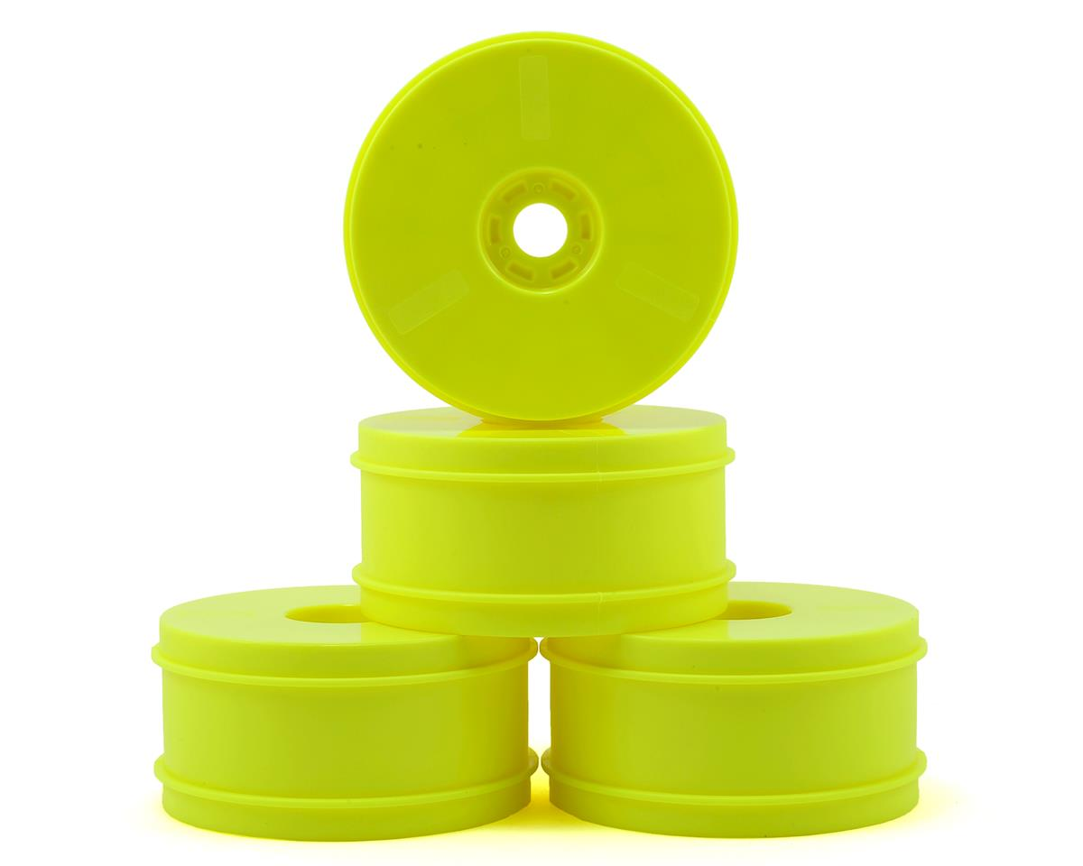 HB Racing V2 1/8 Buggy Dish Wheels (Yellow) (4)