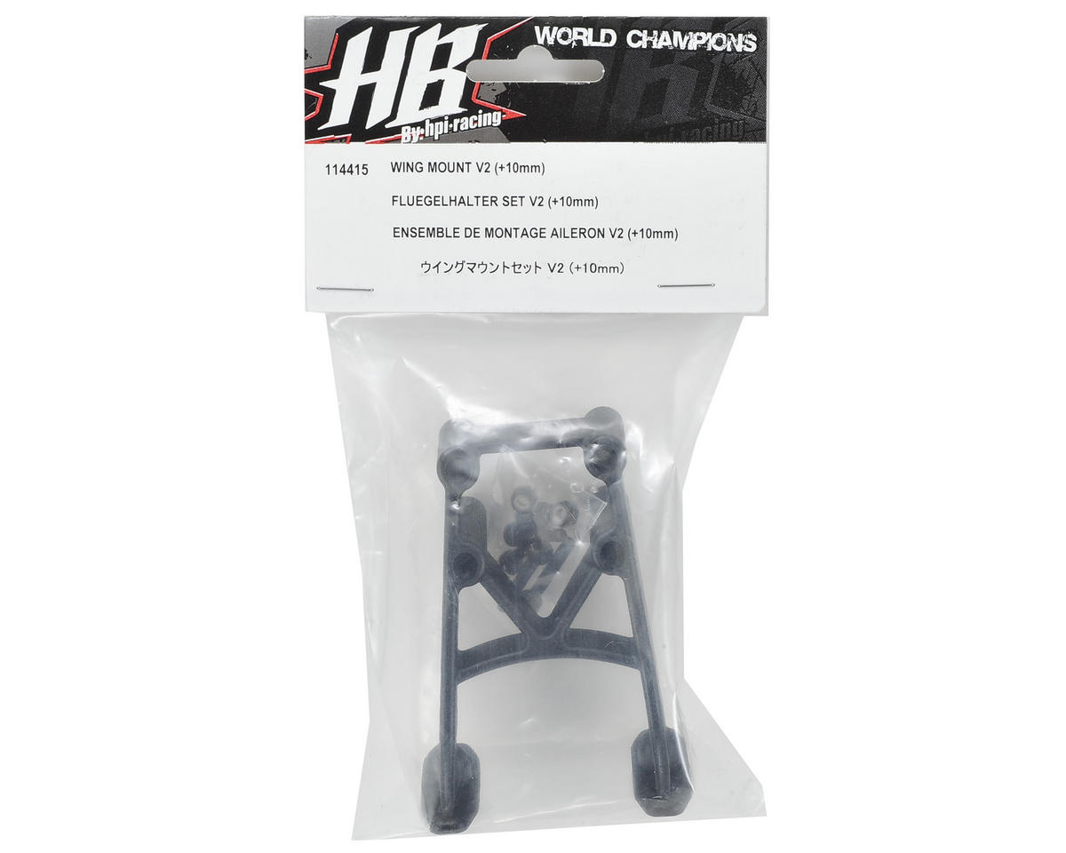 HB Racing V2 Wing Mount (+10mm)