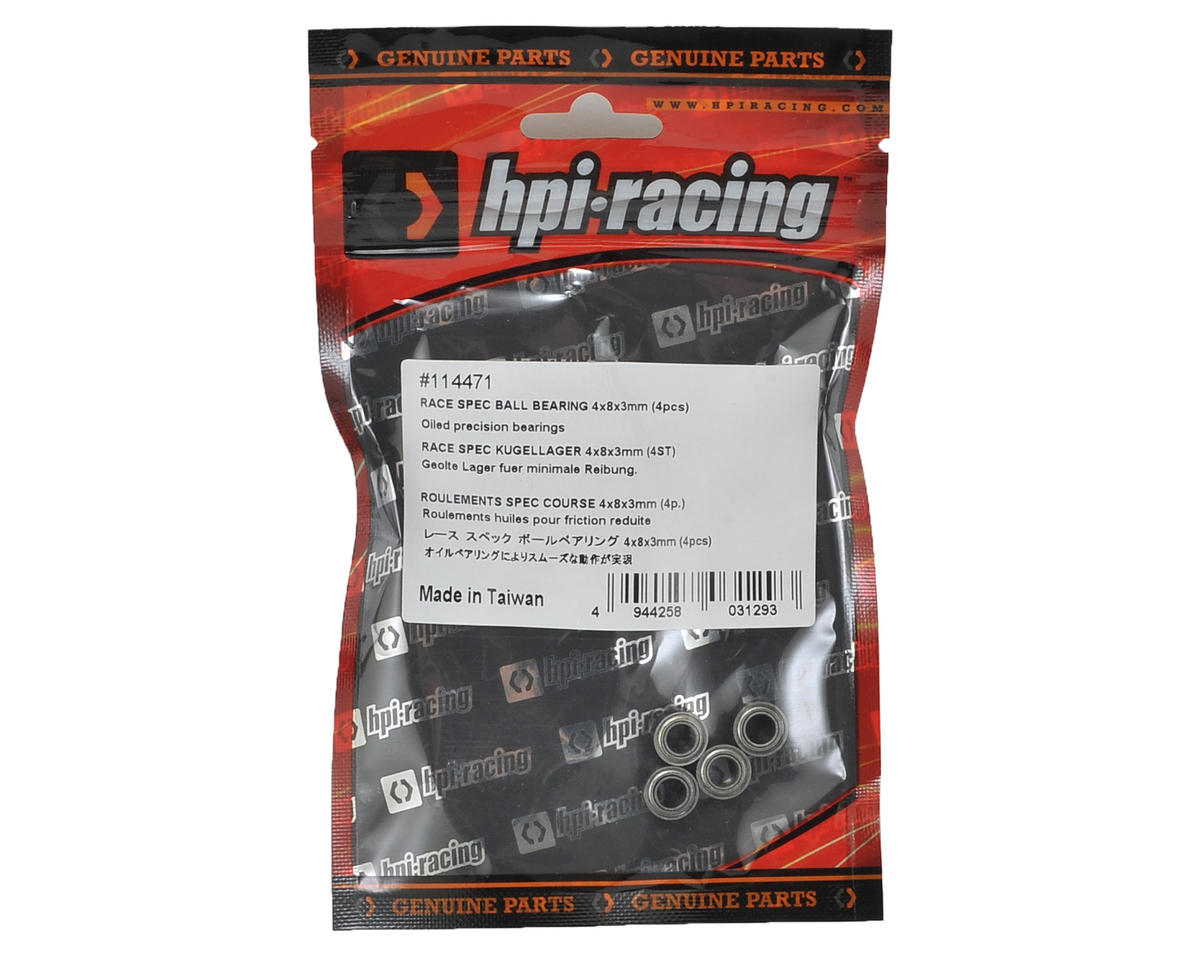 HB Racing 4x8x3mm Race Spec Ball Bearing (4)