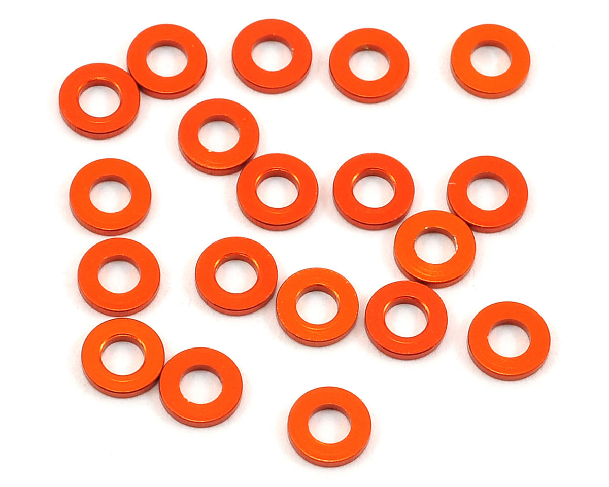 3x6x1.0mm Aluminum Spacer (20) by HB Racing
