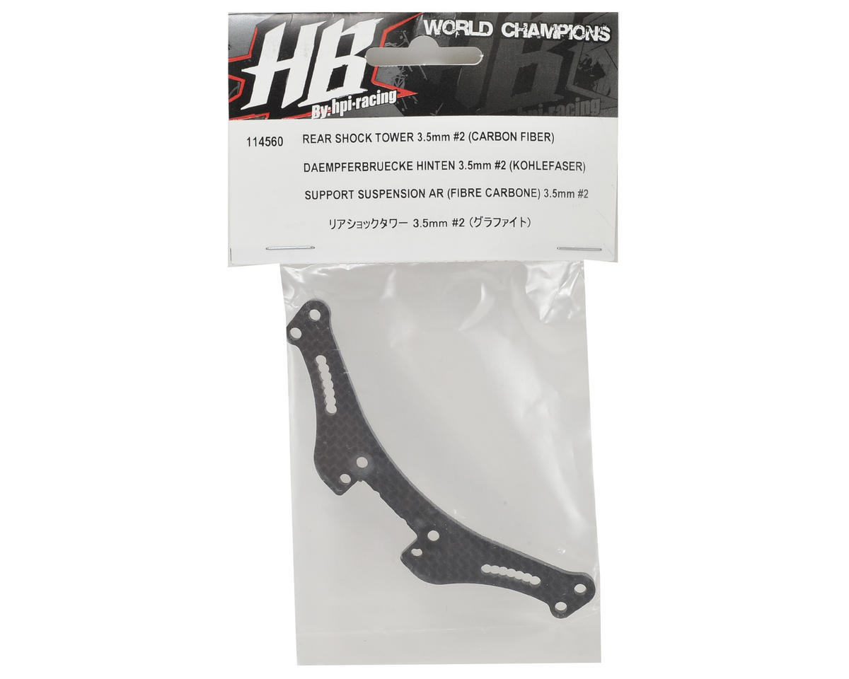 HB Racing 3.5mm Rear Shock Tower (#2)