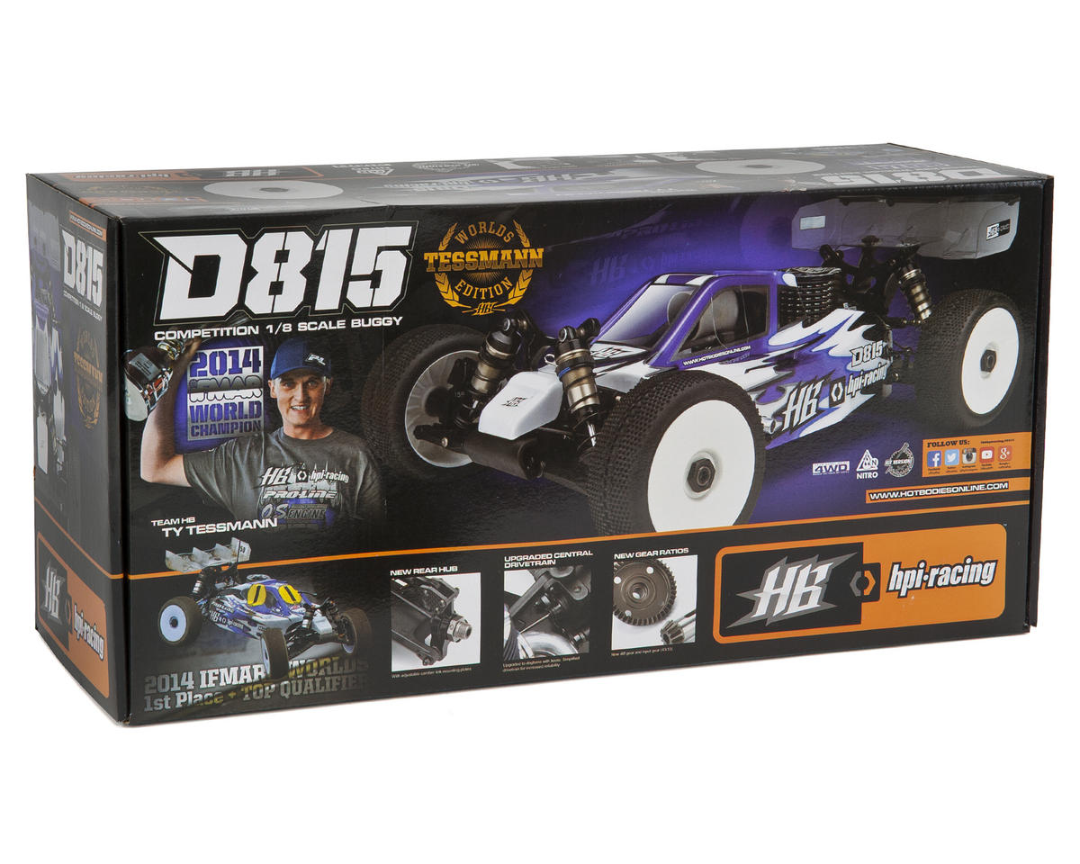 """HB Racing D815 """"Tessmann Worlds Edition"""" 1/8 Off Road Competition Buggy Kit"""