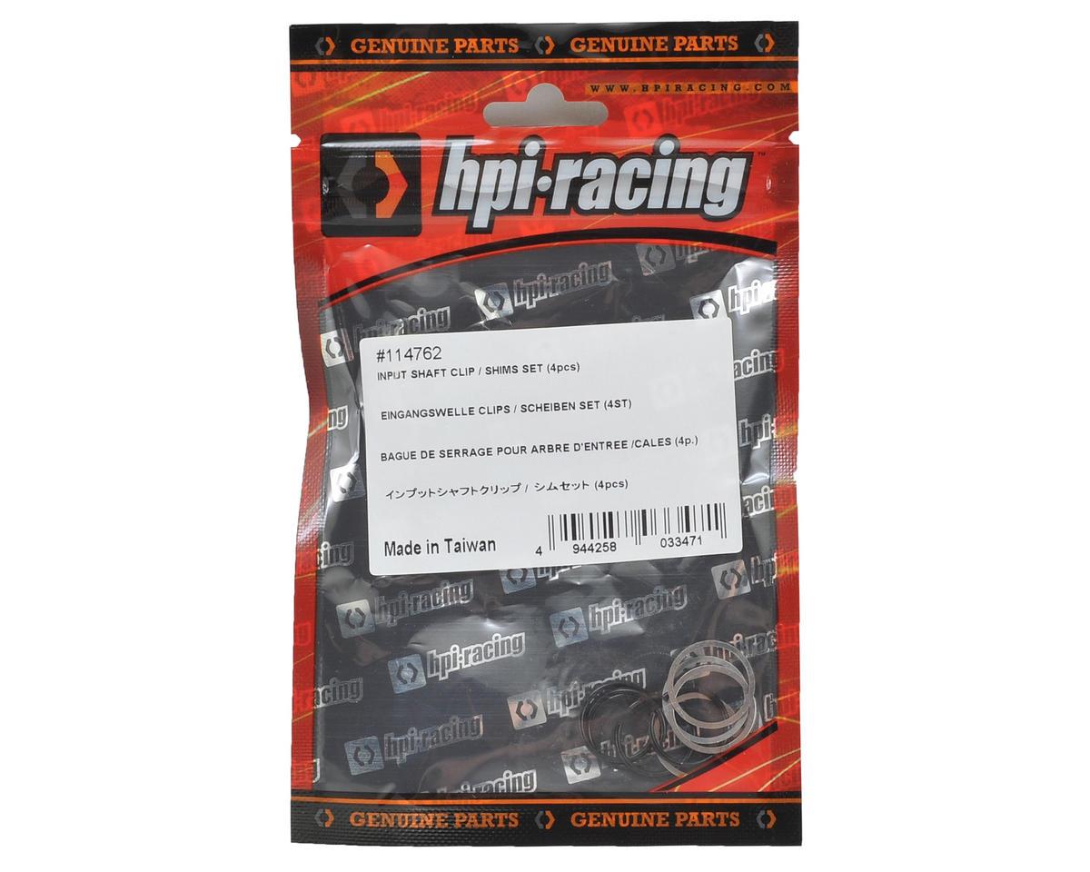 HB Racing Input Shaft Clip & Shim Set