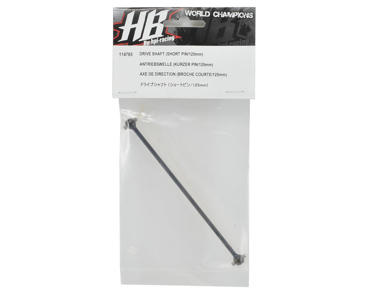 HB Racing 125mm Center/Rear Short Pin Drive Shaft