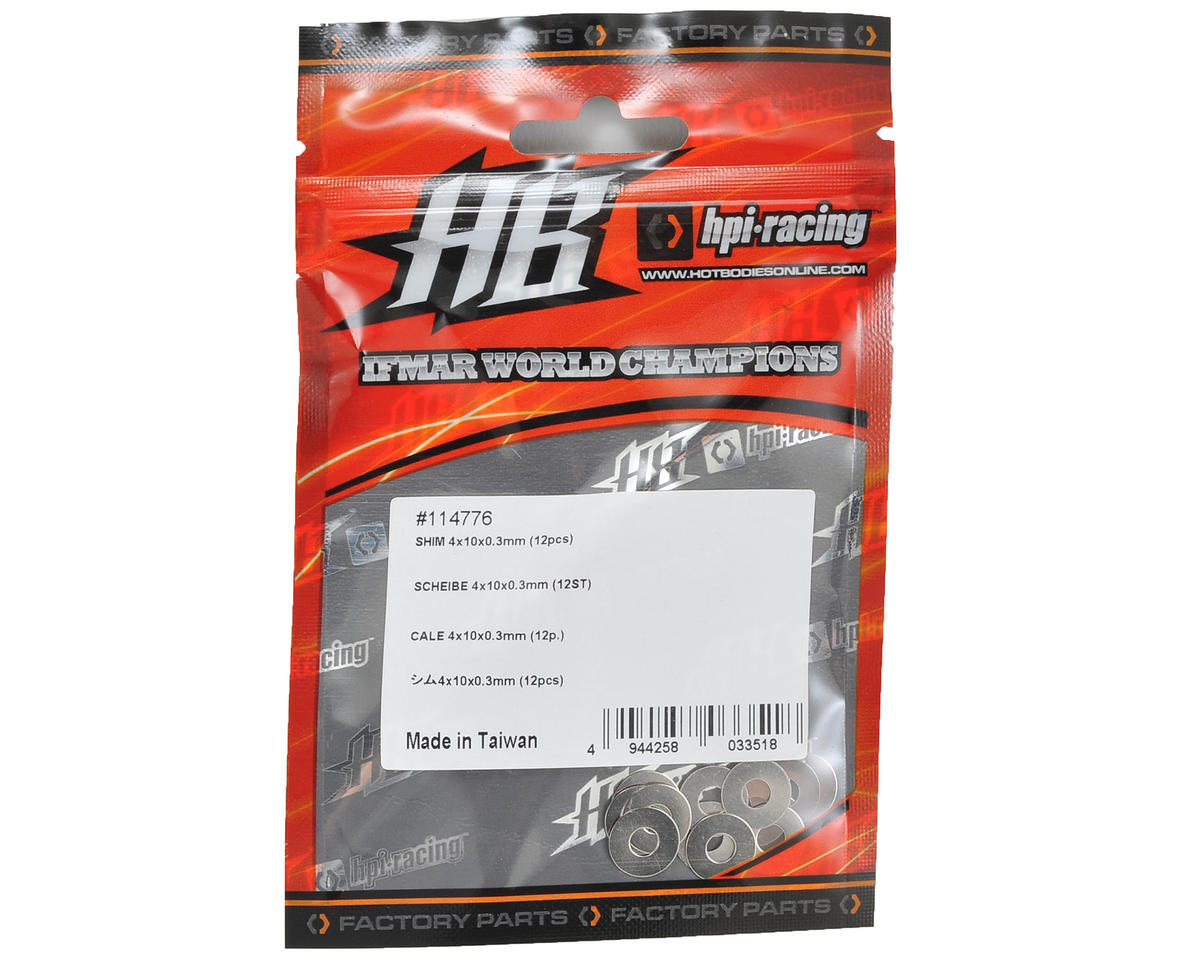HB Racing 4x10x0.3mm Shim (12)