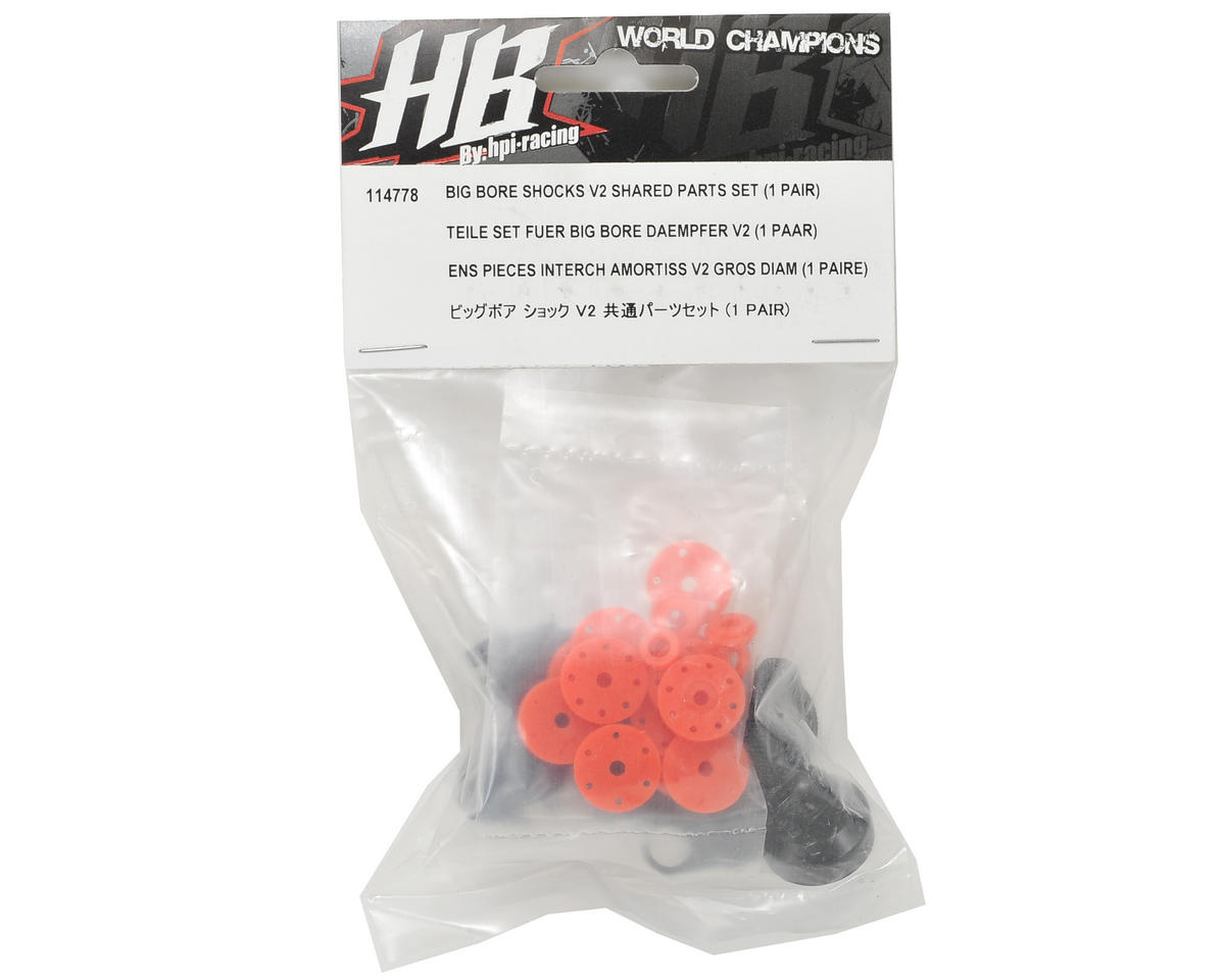HB Racing V2 Big Bore Shock Shared Part Set