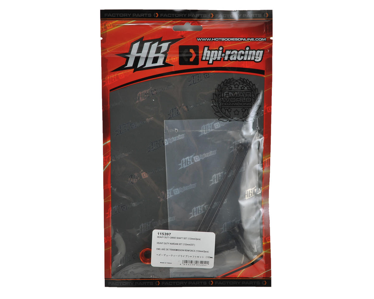 HB Racing 133mm Heavy Duty Rear Drive Shaft Set (2)