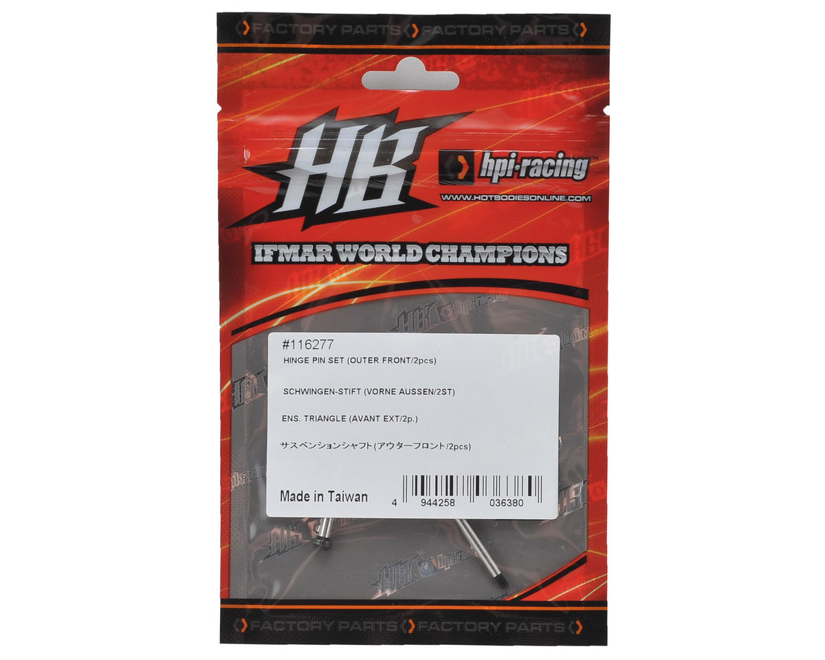 D216 Outer Front Hinge Pin Set (2) by HB Racing