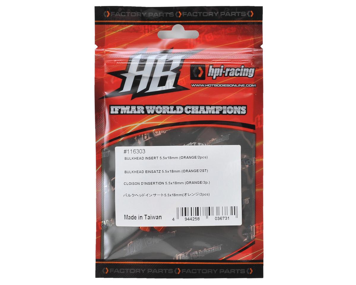 HB Racing D216 5.5x18mm Bulkhead Insert (Oragne) (2)