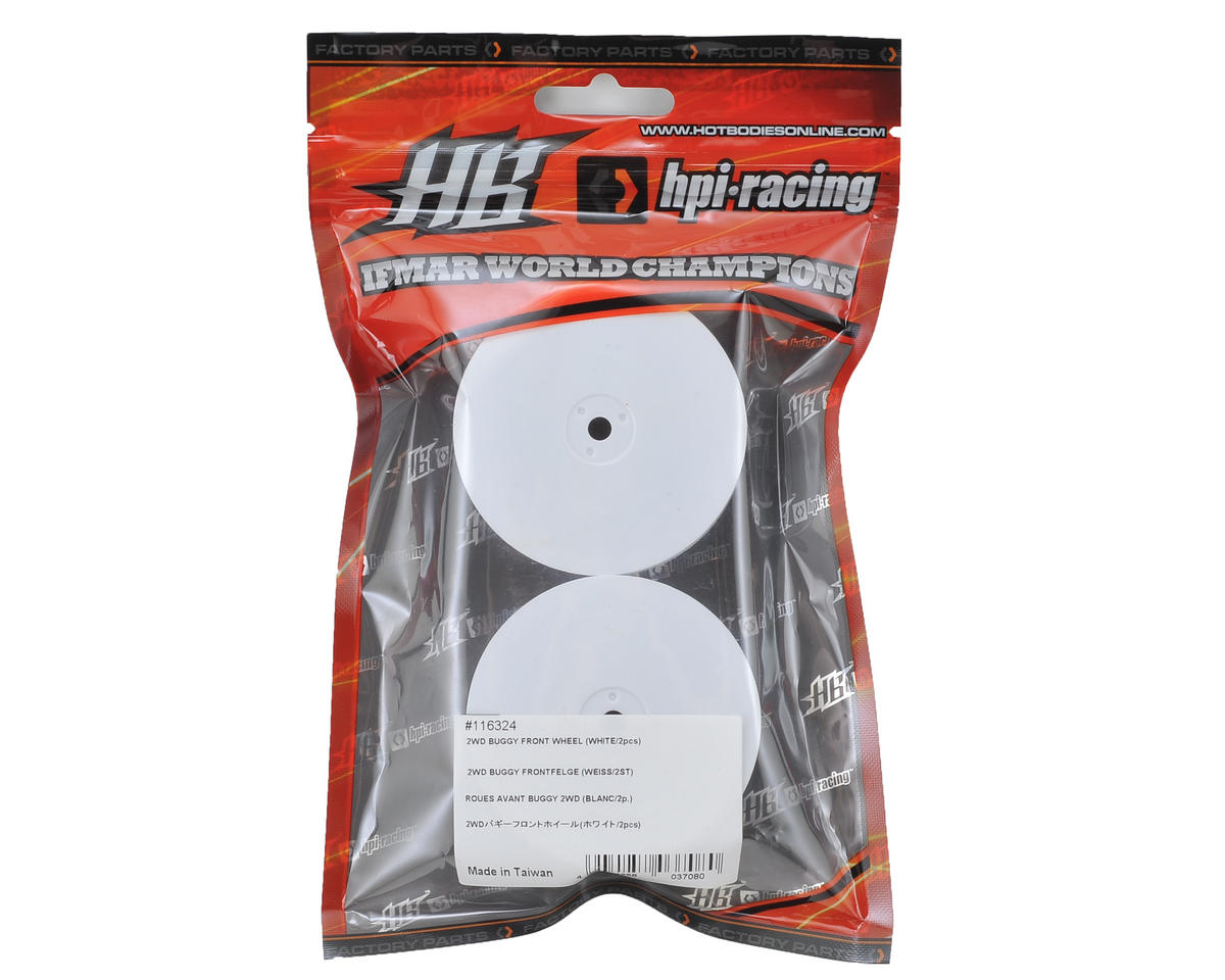 HB Racing 12mm Hex 2.2 Front Wheels (2) (White) (D216)
