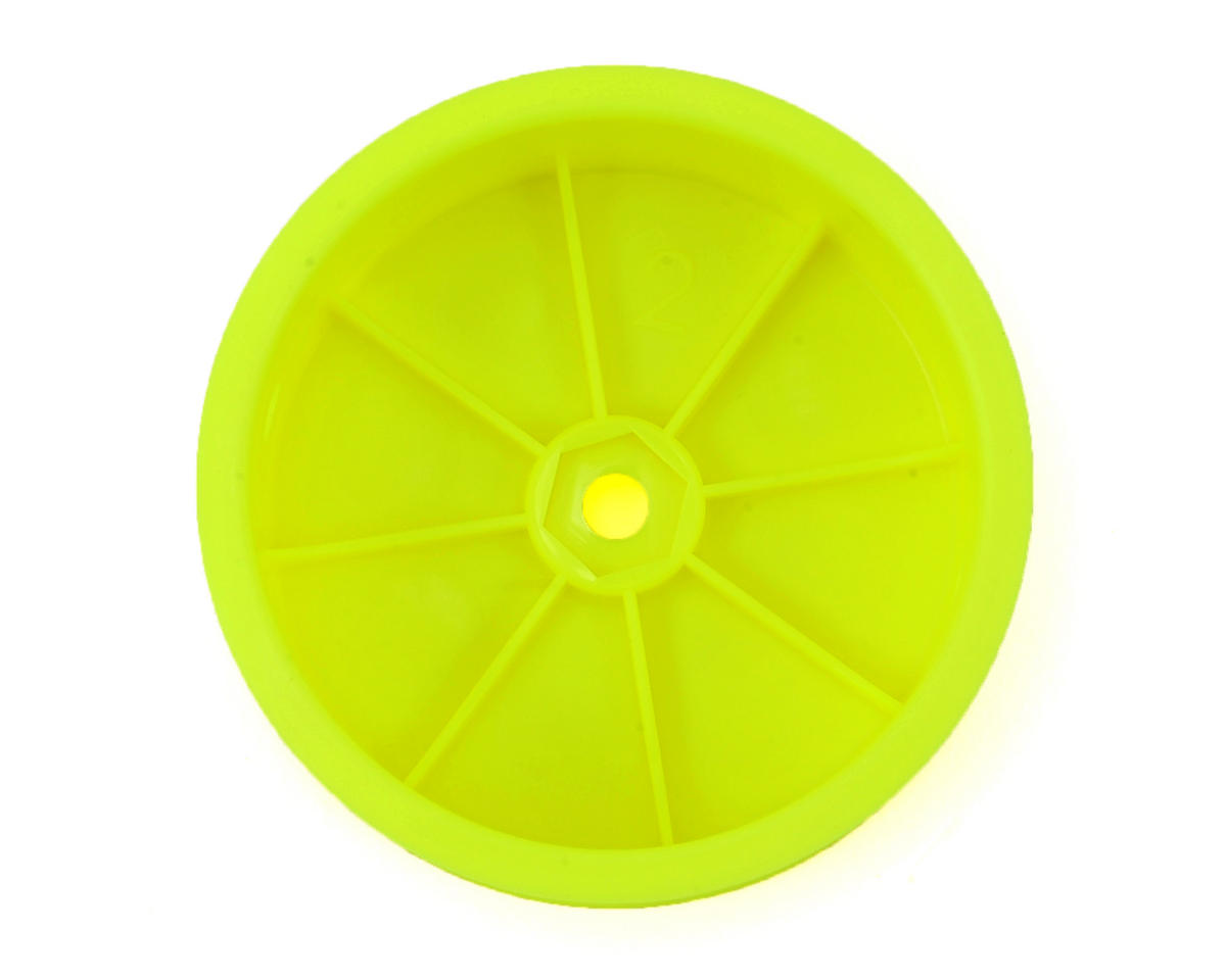 12mm Hex 2.2 Front Wheels (2) (Yellow) (D216) by HB Racing