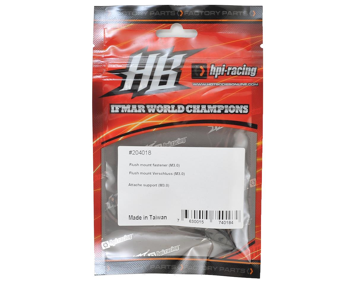 HB Racing M3 Flush Mount Fastener Screw (10)