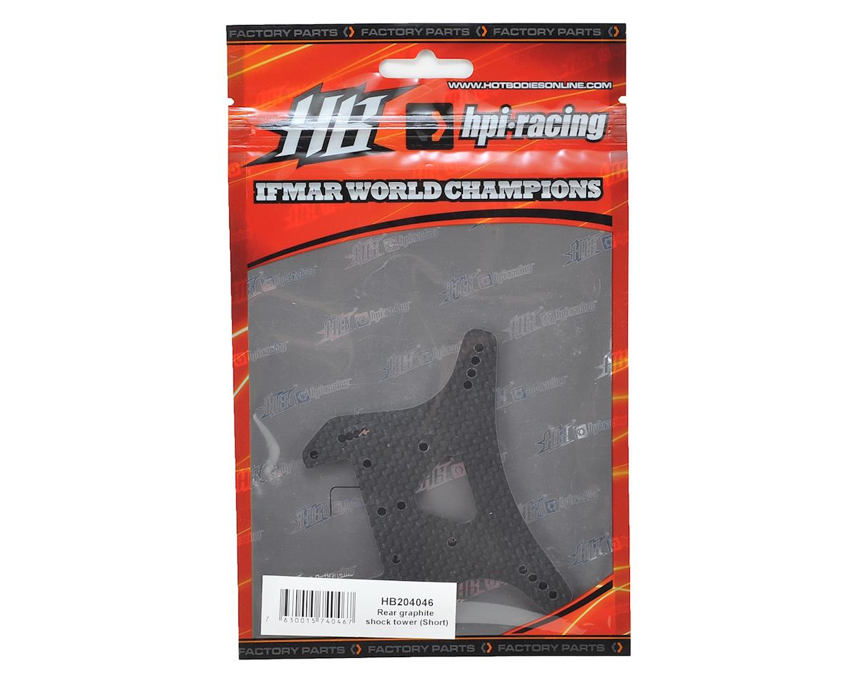 HB Racing D817 Rear Graphite Shock Tower (Short)