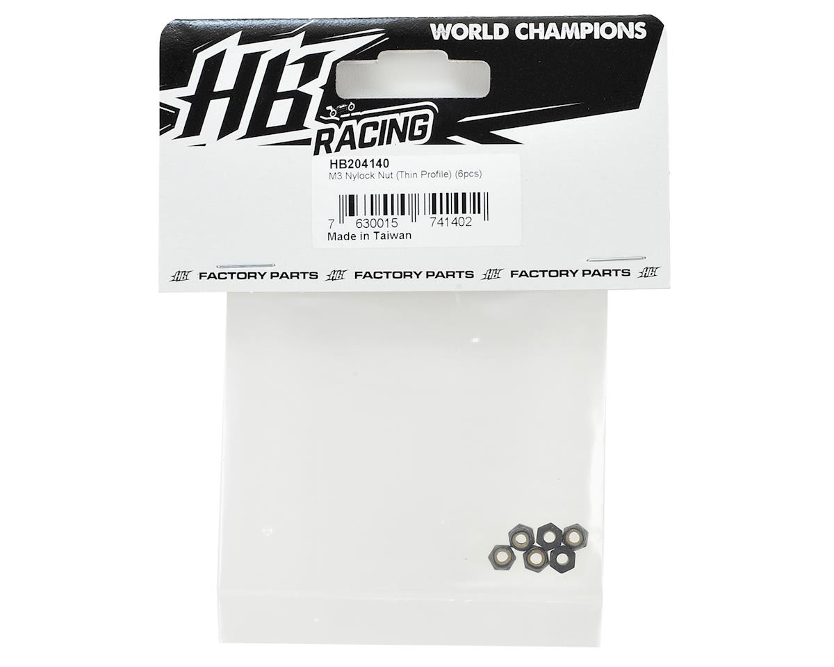 HB Racing M3 Nylock Nut (Thin Profile) (6)