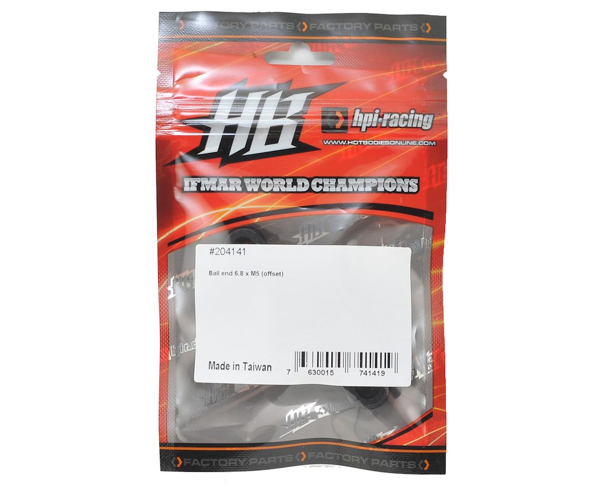 HB Racing M5 x 6.8mm Off Set Ball End (2)