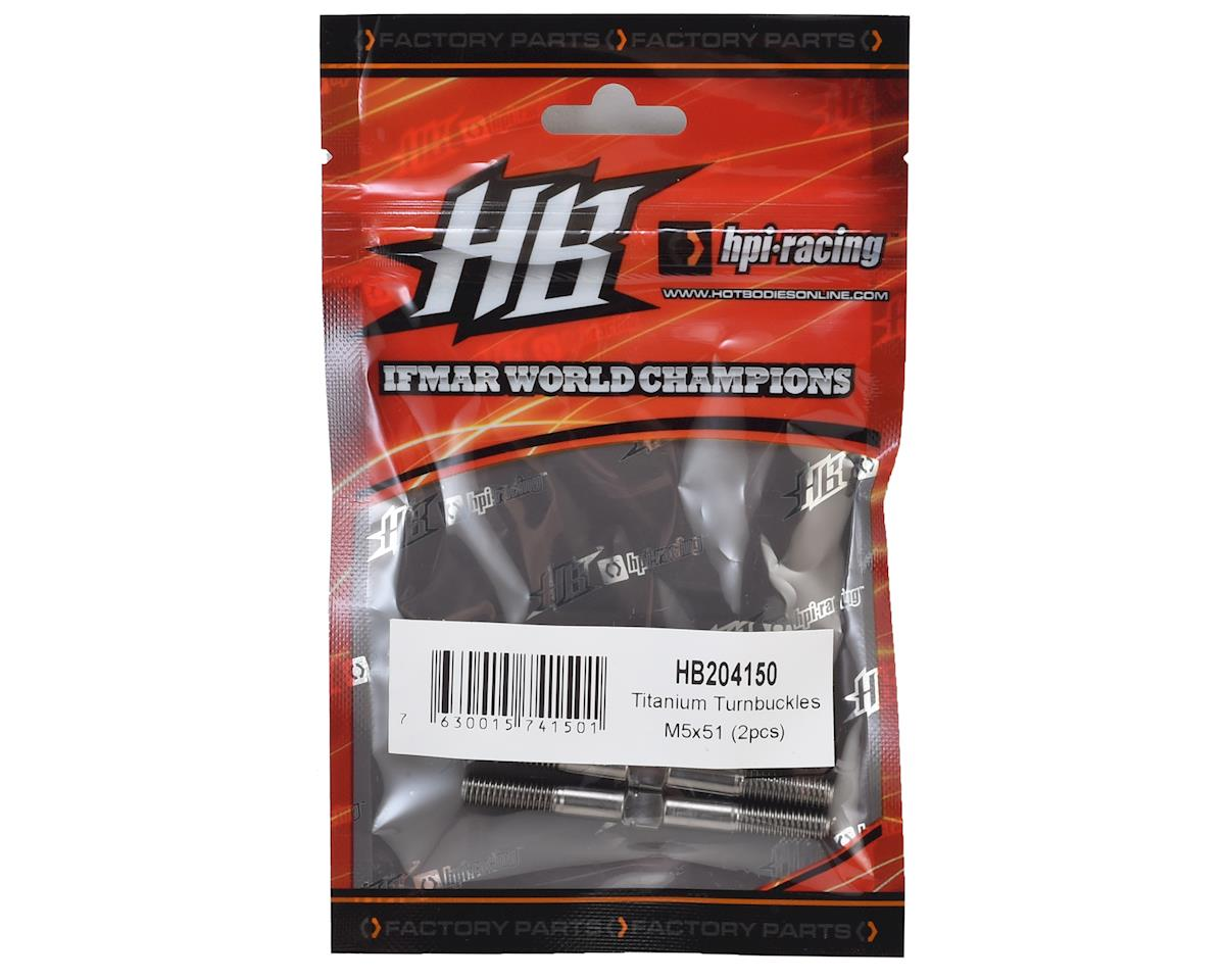 HB Racing 5x51mm Titanium Turnbuckles (2)