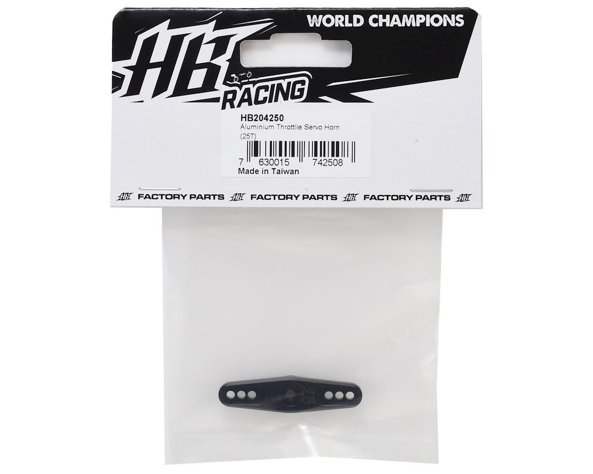 HB Racing Aluminum Throttle Servo Horn (25T - ProTek/Savox/Futaba)