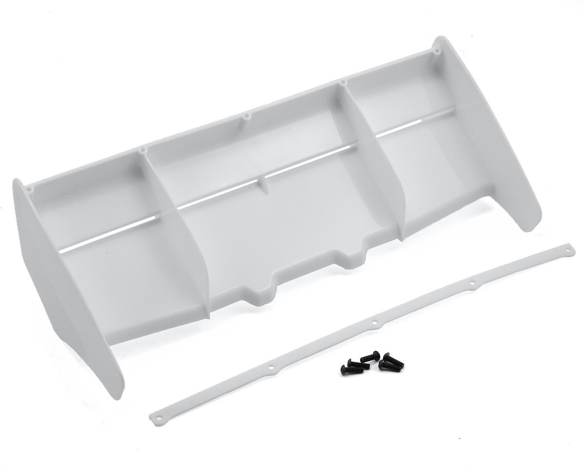 1/8 Rear Plastic Wing (White) by HB Racing