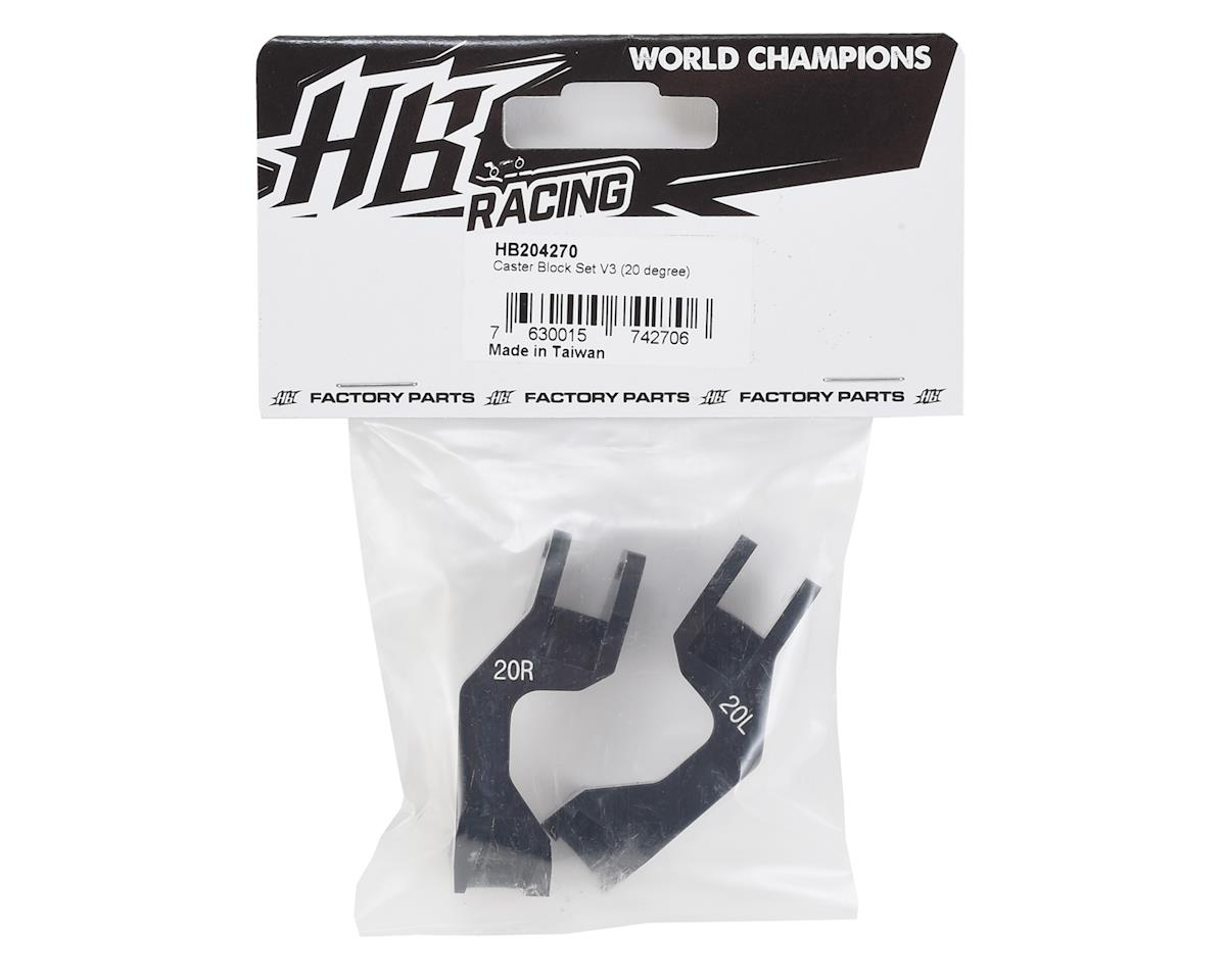 HB Racing Aluminum V3 Caster Block Set (20°)