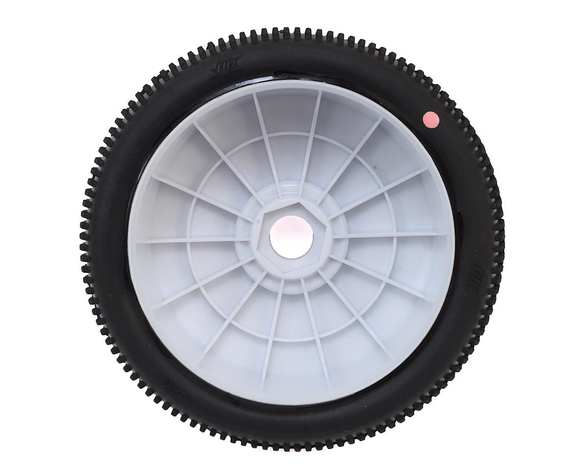 HB Racing Megabite Pre-Mounted 1/8 Buggy Tire (2) (White) (Pink)