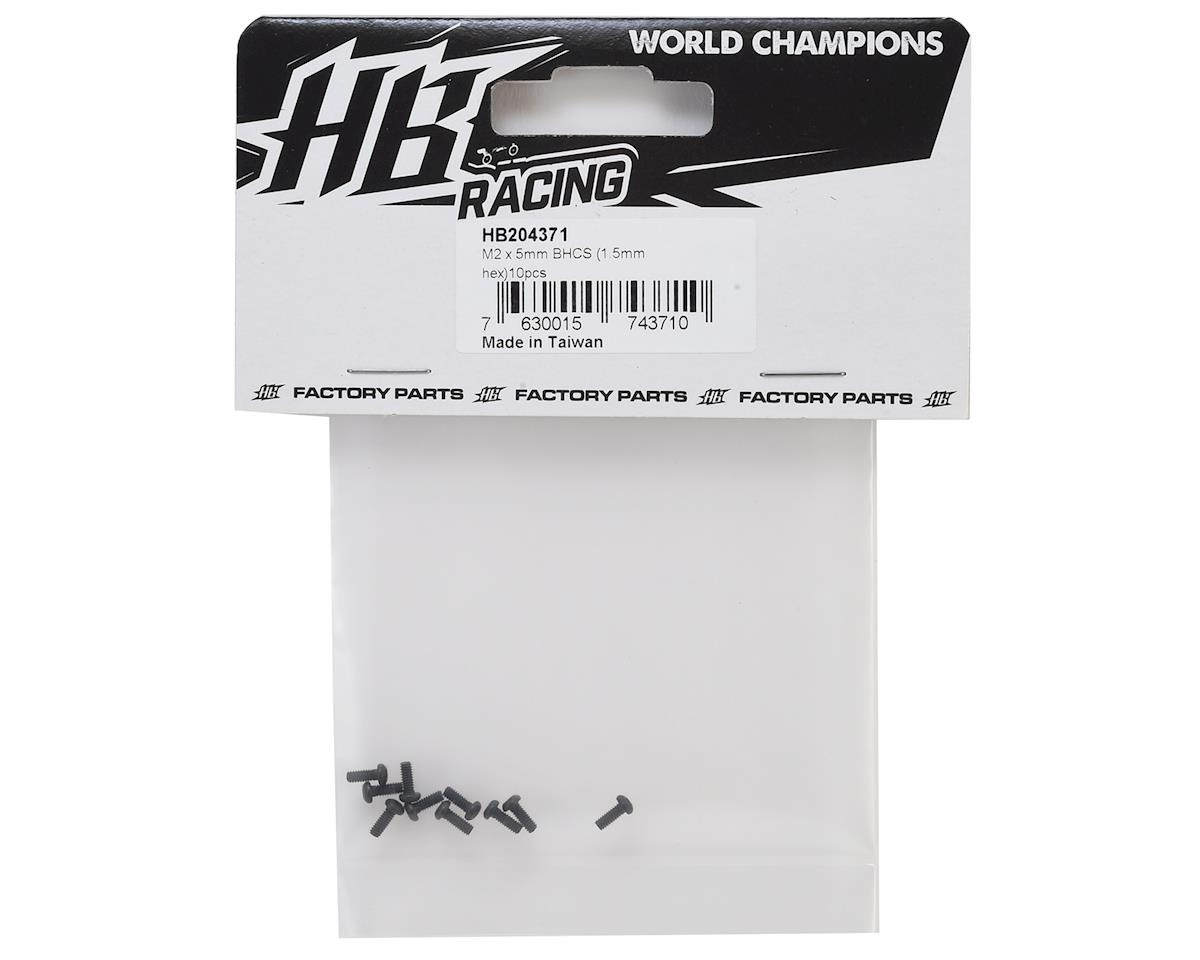HB Racing 2x5mm Button Head Hex Screw (10) (1.5mm Hex)