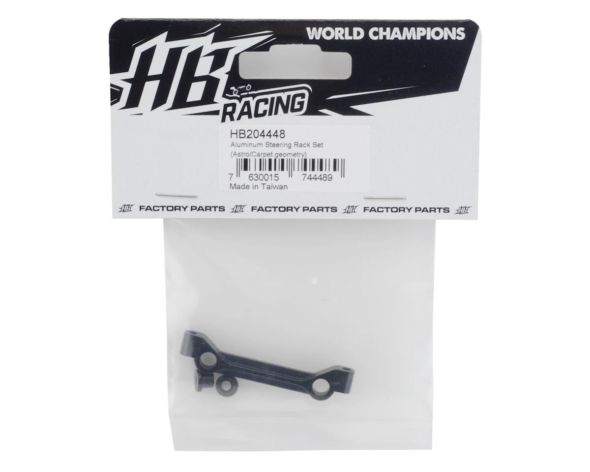 HB Racing D418 Aluminum Steering Rack Set (Black) (Astro/Carpet Geometry)