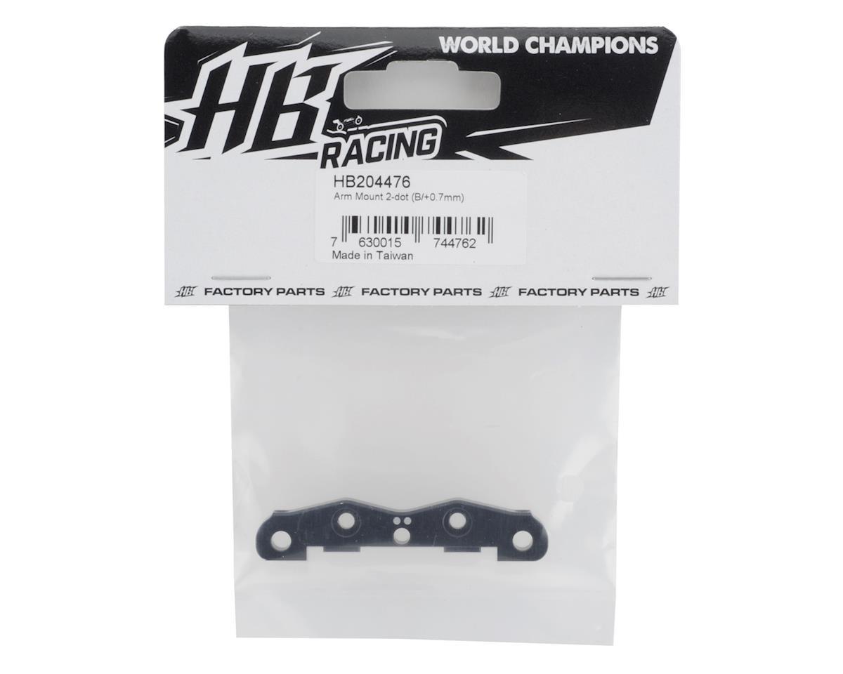 HB Racing D819 Arm Mount (Black) (B/+0.7mm) (2 dot)