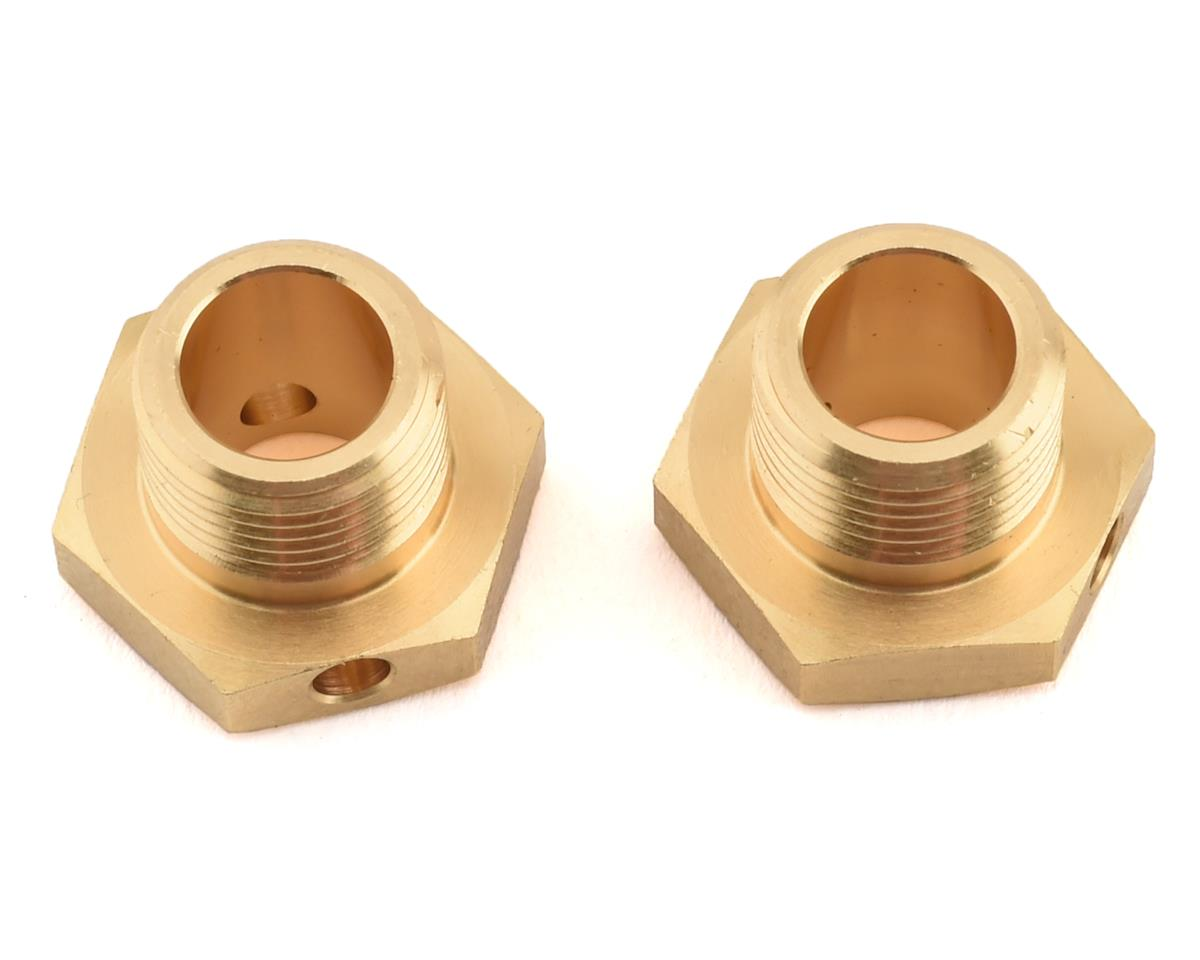 HB Racing D819 Brass Wheel Hex Hub (2) (Narrow)
