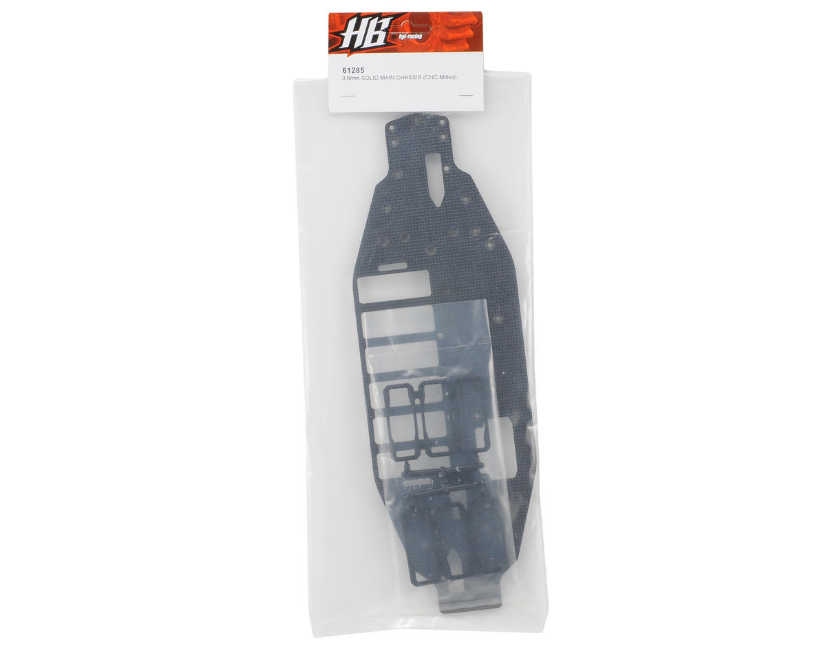 HB Racing 3.6mm Solid Main Chassis (SNS-Milled)